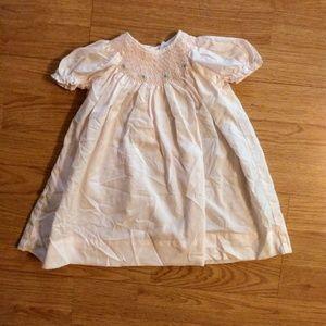 Smocked Peti Ami hand embroidered light pink dress
